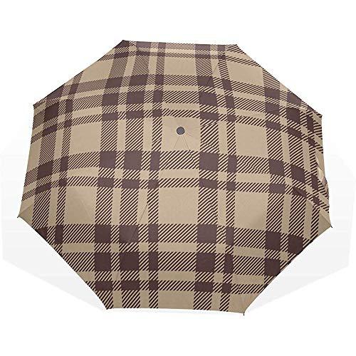 Ombrello pieghevole bellissime grate marroni 3 ombrelli artistici pieghevoli ombrellone con ombrellone ombrello da viaggio con luce solare