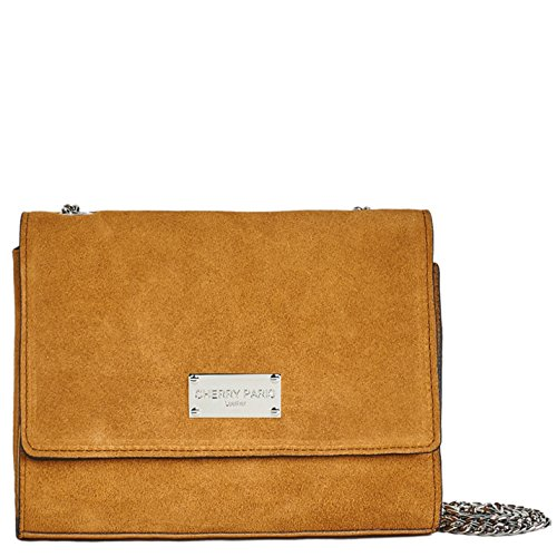 Cherry Paris- lisbon- sacchetto tasca bandoulière- cuir- Donna marrone