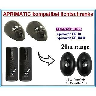 Aprimatic ER 10 / Aprimatic ER 180B kompatibel lichtschranke, paare von äußere universale Fotozellen / Infrarot IR Sicherheit Sensor 12 -24 Vac/Vdc, NO/NC. Reichweite: bis 20m!!!
