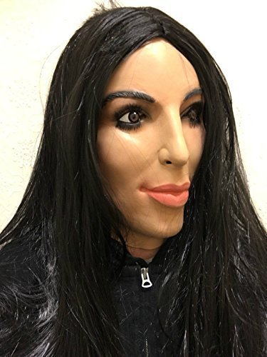 Kim Kardashian Maske Latex Reality TV-Star Promi Maskenkostüm (Maske Latex Promi)