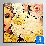 HD Blumen und Frauen Kunstdruck Gemälde Poster Plakat, Kunstdruck Wandbilder für Home Dekoration, Wall Decor Art (50x 50cm * 1ohne Rahmen No. 3)
