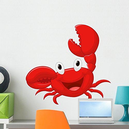 (Wallmonkeys Cute Crab Cartoon Wall Mural Abziehen und Aufkleben Graphic wm192162 24