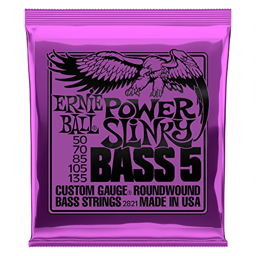 Ernie Ball Power Slinky 5-Saiter Nickel Wound E-Bass Saiten - 50-135 Gauge
