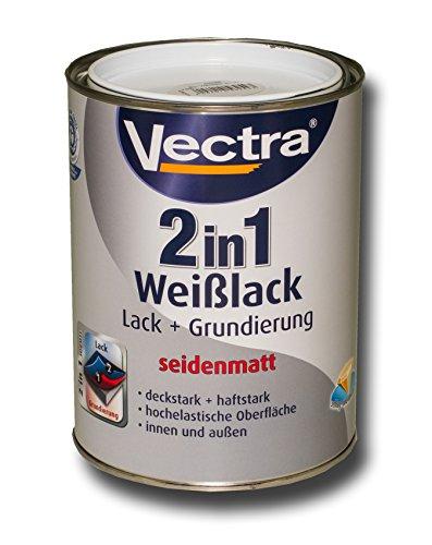 Preisvergleich Produktbild Vectra 2543 2in1 Weißlack Lack + Grundierung Seidenmatt 2,5 Liter (ALC14)