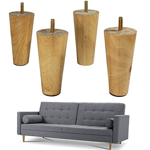 4x Round Wooden Replacement Furniture Legs Ikea Legs Furniture Raise