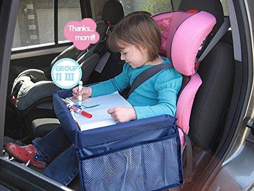 MuStone Tablett für Kinder auf Reisen, wasserdichtes Reisetablett, Auto-Organizer für Baby-Autositze, Spielen, Lernen, Aktivität, Zug, Flugzeug, Indoor- & Outdoor-Reisen (Baby Auto-kindersitze Und Kinderwagen)