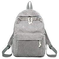 BKPEER Backpack Corduroy BackpackStyle Soft Fabric Backpack Female Corduroy Design School Shoulder Bag Backpack For Teenage Girls