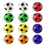 12xStress Relief Schwamm Foam Balls, 12PCS Fußball Stress Relief Schwamm Foam Balls Hand Stärke Squeeze Ball Kinder Erwachsene Hand Übung Spielzeug Bälle Party Toys
