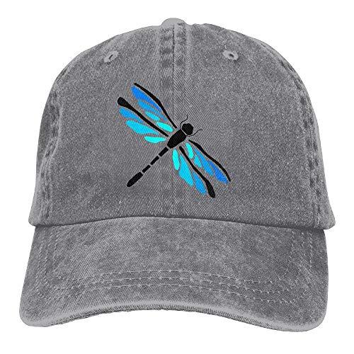 Unisex Playful Dragonfly Funny Logo Summer Fashion Cotton Baseball Cap Adjustable Trucker Hats for Outdoor Sport -