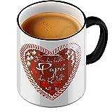 Fun tasstic Tasse Bester Papa panpepato a forma di cuore–Tazza di Caffè Pott by stylotex