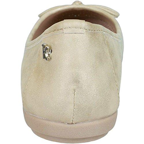Aggiornare Le Donne Ballerina Pantofola 63303 Oro