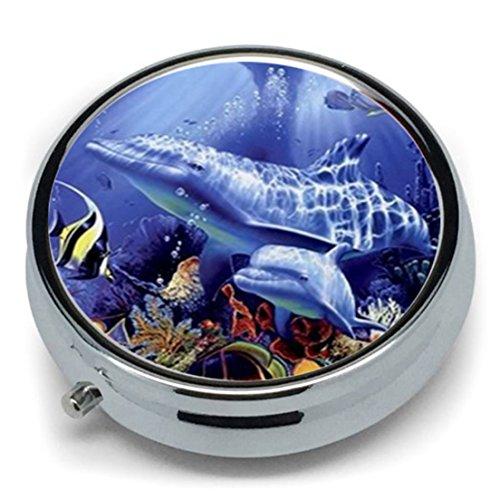 Cyberlee Pastillero Metal Redondo diseño delfín