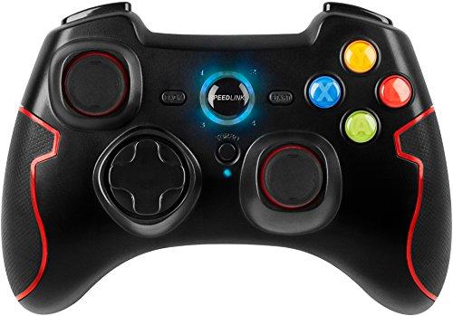 Speedlink Torid kabelloses Gamepad für PC/PS3 (bis zu 10 Stunden Spielzeit, XInput und DirectInput, Vibrationsfunktion, Schnellfeuerfunktion) schwarz - Solide Leben Betrieb