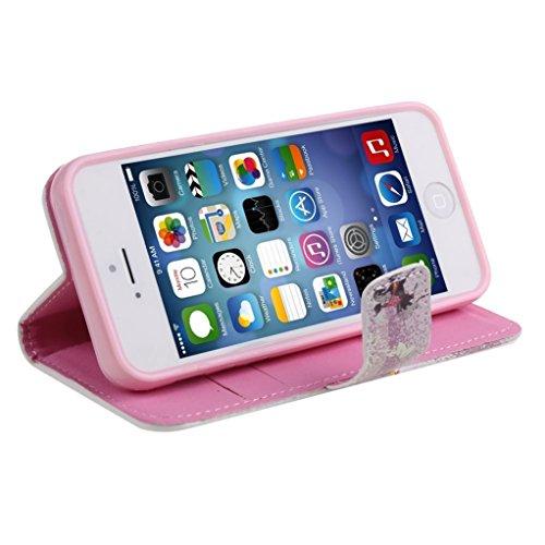 """Trumpshop Smartphone Case Coque Housse Etui de Protection pour Apple iPhone 6/6s Plus 5.5"""" + Fée Danse + Cristal Diamant Portefeuille PU Cuir Avec Fonction Support Anti-Choc Anti-Rayures Fée équitation"""