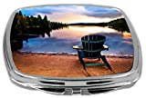Rikki Knight Compact Mirror, Wooden Chair at Sunset Amazon