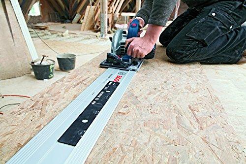 Bosch Professional Tauchsäge GKT 55 GCE, Kreissägeblatt Best for Wood, 1400 Watt-Motor, 165 mm Saägeblattdurchmesser, L-Boxx, 1 Stück, 0601675001 - 4