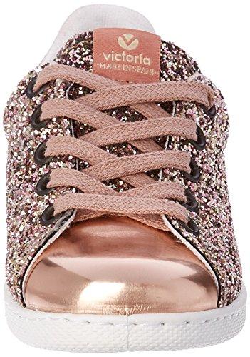 Victoria Deportivo Glitter, Baskets Basses Mixte Enfant Rose (Rosa)