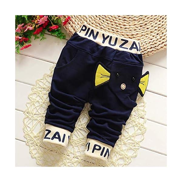 Squarex - Pantalones de 3 a 24 Meses, para bebé, niños, con diseño de Letras, Ropa Informal, Moda otoñal, Invierno, Ropa… 2