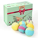 Liberex Bath Bombs Set, Gift Kit with 6 Scents for Women Kids, FDA Approved, 6 x 100g