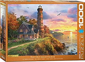 Eurographics 6000-0965 - Puzle de 1000 Piezas, diseño con Texto The Old Lighthouse