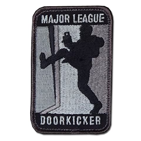 ÉCUSSON OU PATCH MAJOR LEAGUE DOORKICKER ACU DARK GRIS NOIR MSM MSM-P-091-ACUD / KZA-E-M-680 MIL SPEC MONKEY AIRSOFT