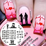 Plantillas de Uñas Manicura Arte Placa de Estampación Love Theme Nail Art Stamping Template Image Plate Cute Birds BORN PRETTY BP71