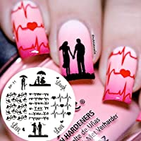 Born Pretty Plantillas de Uñas Manicura Arte Placa de Estampación Love Theme BP71