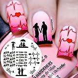 Born Pretty 5.5cm Rund Love Theme Nagel Kunst Schablone Stamping Netter Vogel BP-71