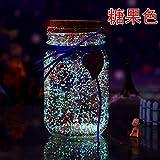 Solar-Licht Glas-Glas Hochzeit Licht Flasche wünschend glühende Glückssternchen Flasche Sonnenschein Mondlicht kann mittlere Candy-Farbe