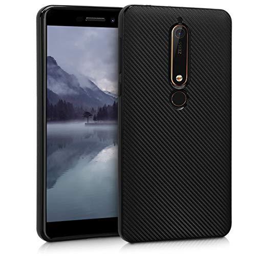 kwmobile Nokia 6.1 (2018) Hülle - Handyhülle für Nokia 6.1 (2018) - Handy Case in Schwarz