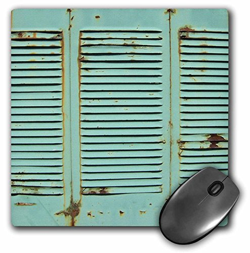 3drose LLC 20,3x 20,3x 0,6cm Verwitterte türkis Karibik Fensterläden Muster Maus Pad (MP 48179_ 1)