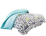 40S 196 Fadenzahl Baumwolle Bettbezüge Sommer dünne weiche Kinderbett Kinder Kinder Teen Mädchen Jungen Studenten College Wohnheim Bettwäsche Cover (Fisch, 160 cm x 210 cm)