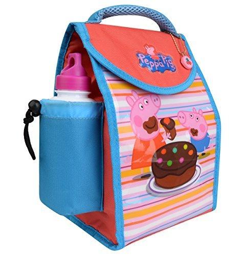 Charakter Kinder Kinder Lunchbox Tasche mit Sport Wasserflasche - wunderbare Damen, medium Peppa Pig