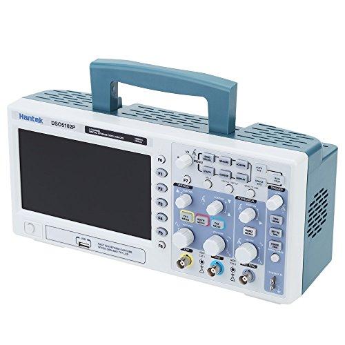 "HantekDso5102P Osciloscopio de Almacenamiento Digital Certificado 2Ch 100Mhz 1Gs 7 ""Tft 8-Bit 4Ns / Div-80S / Div"