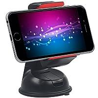 بروميت حامل سيارة متوافق مع جميع أجهزة الموبايل والجي بي اس سامسونج آيفون - لون أسود - Mount2