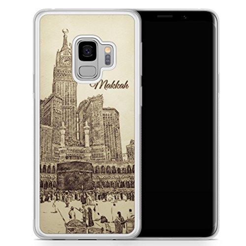 Vintage Panorama Makkah Mekka - Samsung Galaxy S9 Hülle SILIKON FROSTED - Motiv Design Islam Muslimisch Schön - Handyhülle Schutzhülle Cover Transparent Durchsichtig Case Schale