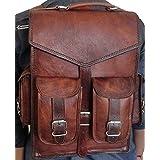 Vintage Tasche Leder handgefertigt Vintage Stil Rucksack/College Tasche