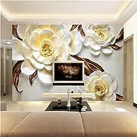 Lqwx Papel De Parede Foto 3D Papel Tapiz Para Paredes 3 D Rosa Amarilla Gran Mural Dormitorio Salón De Papel Papel Contact-250Cmx175Cm