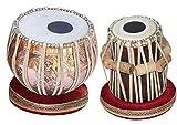 Vinayak Musical Concert Goddess Saraswati Tabla Drum Set 4 Kg, Copper Bayan, Finest Dayan, Special Handmade Pudi(5.50 Inch Pudi C# Scale Tabla)