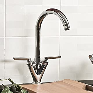 Ex Display Brand Modern Dual Lever Chrome Kitchen Sink Bathroom Basin Mixer Tap