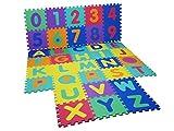 Whobabe EVA Baby-Matte mit Alphabet-Puzzle mit Matte, weich mit große Fliesen
