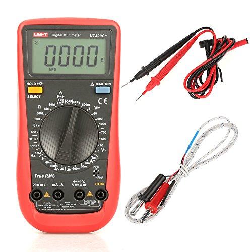 Multimetri digitali UNI-T Auto-Range Tester AC/DC Tensione/corrente/resistenza/multimetro di frequenza (UT890C+)