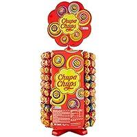 Chupa Chups Ruota Lecca Lecca, Lollipop Frutti Assortiti Gusto Fragola, Ciliegia, Arancia, Lampone, Vaniglia, Cola e Panna Fragola, 200 Lollipops Monopezzi