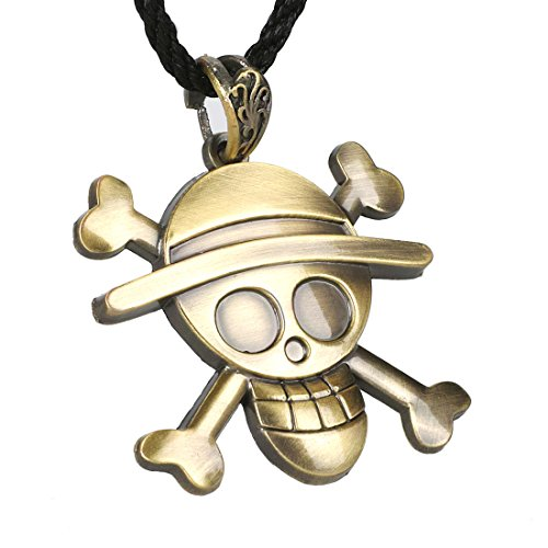 CoolChange Collar de One Piece con Jolly Roger de los Piratas Sombrero