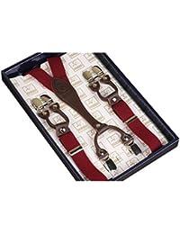 Kangcheng Y-Back Clips de metal elásticos Unisex Braces Skinny Braces 6 Clips recortados 25mm Tirantes durables Strong Metal Clips Correas ajustables Perfecto