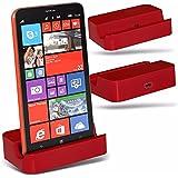 ZTE Blade Velocity - Micro-USB-Desktop-Ladestation-Standplatz - Red