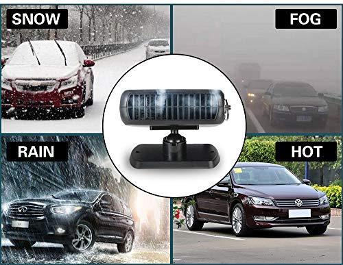 Hangang-Auto-Riscaldatore-Sbrinatore-finestra-Disappannatore-termoventilatore-portatile-auto-12-V-150-con-manico-pieghevole-riscaldamento-rapido-Low-Noise