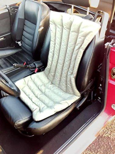 Coprisedile -beige chiaro- per schienale sedile auto macchina camion in pula di farro con effetto massaggiante, antisudore, ideale contro il sudore, antistress