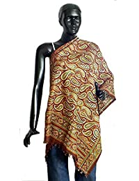 DollsofIndia Silk Tussar Printed Stole - Silk Tussar - Red