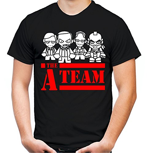 A-Team Männer und Herren T-Shirt | Spruch Hannibal B. A. Geschenk M3 (XXL, Schwarz)